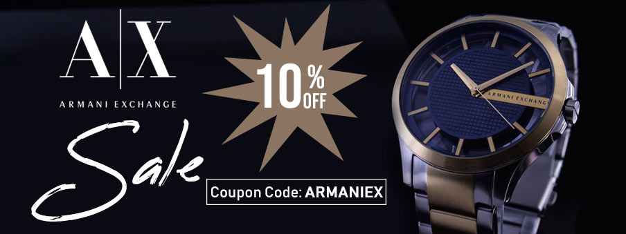 Armani Exchange watches on sale