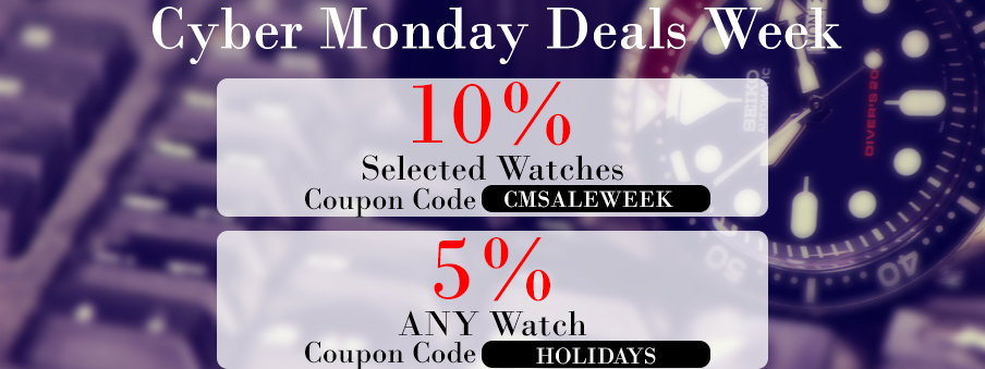 Cyber Monday Sale on Watches with Free Worldwide Shipping