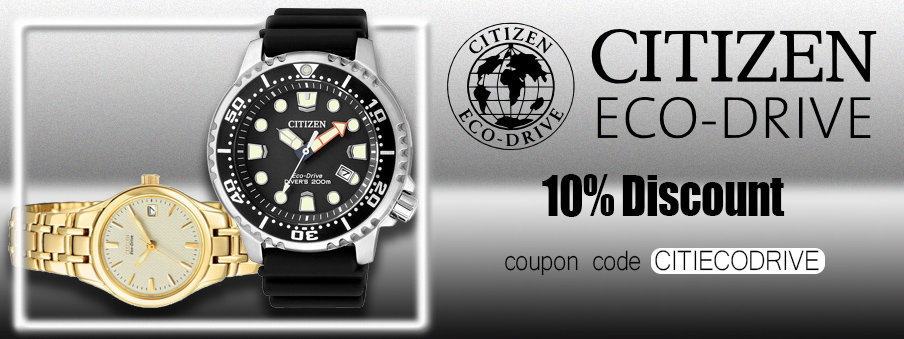 Citizen eco-drive watches on sale with free worldwide shipping.