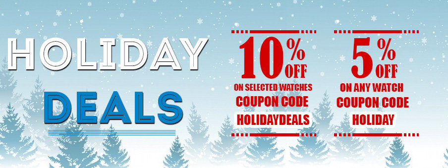 Holiday Deals on Watches - Watches on sale with free worldwide shipping