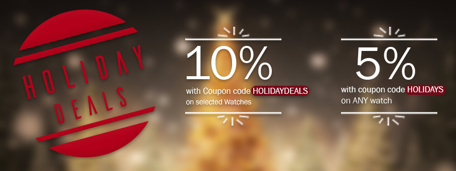 Holiday Deals on watches with free worldwide shipping.