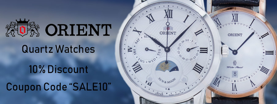 Orient quartz watches on sale with free shipping worldwide