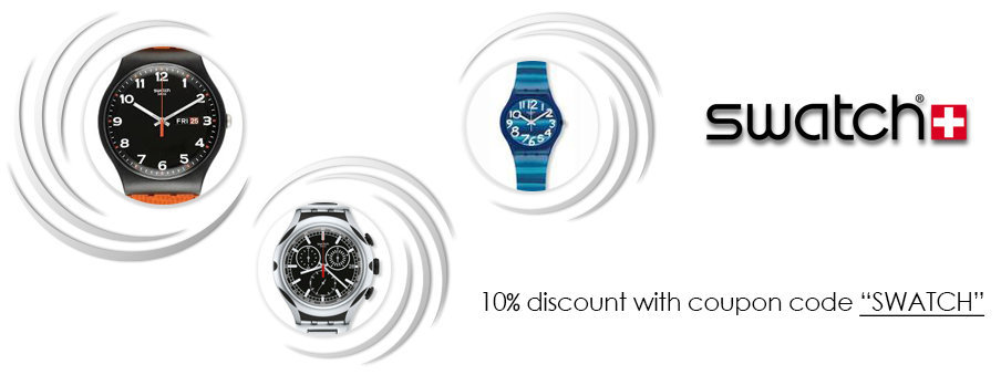 Swatch watches on sale with free worldwide shipping
