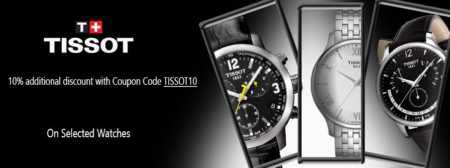Selected tissot watches on sale with free shipping worldwide
