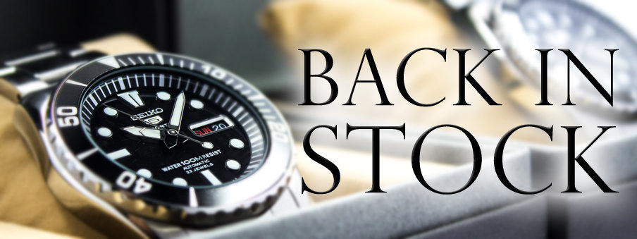 Back in stock watches, free worldwide shipping