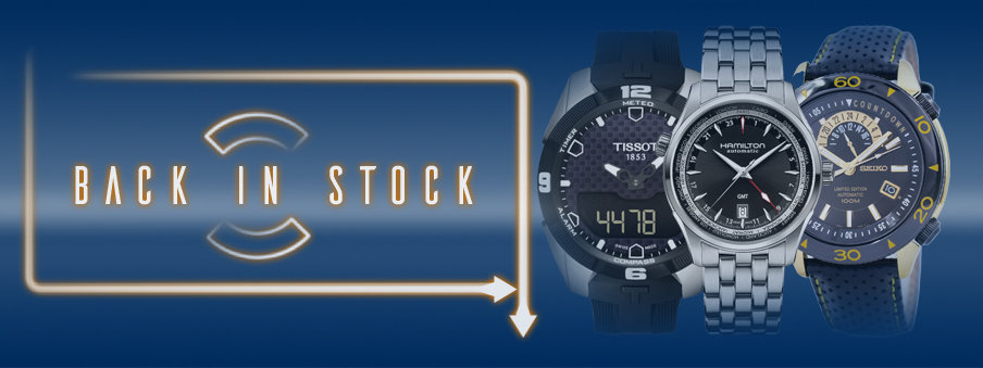 Popular watches back in stock with free worldwide shipping