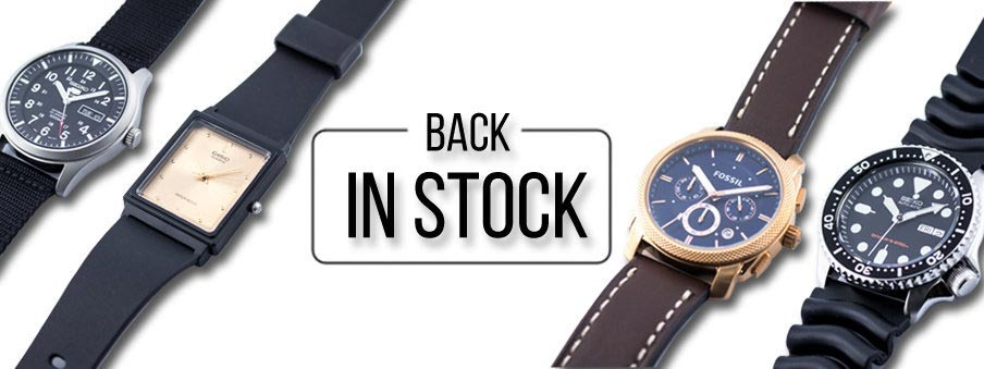 Popular sold out watches back in stock with Free worldwide shipping