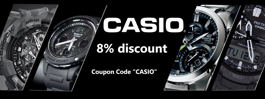 Casio watches on sale with free worldwide shipping
