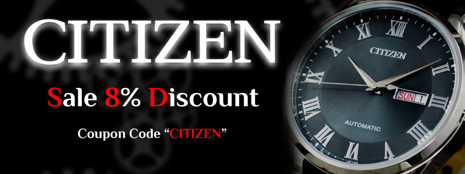 Citizen watches on sale with free worldwide shipping.