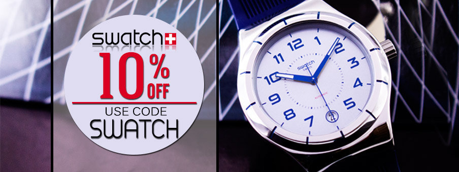 Swatch watches on sale with free worldwide shipping.