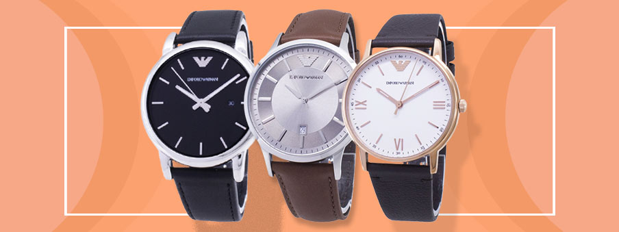 Emporio Armani Watches on sale with free worldwide shipping.