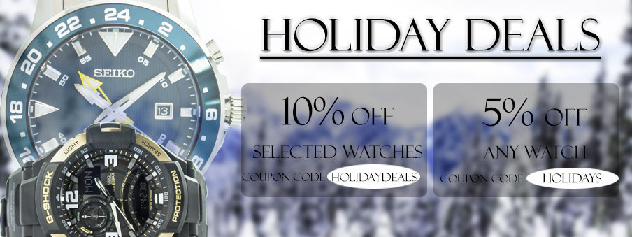 Holiday deals on watches with Free Worldwide Shipping
