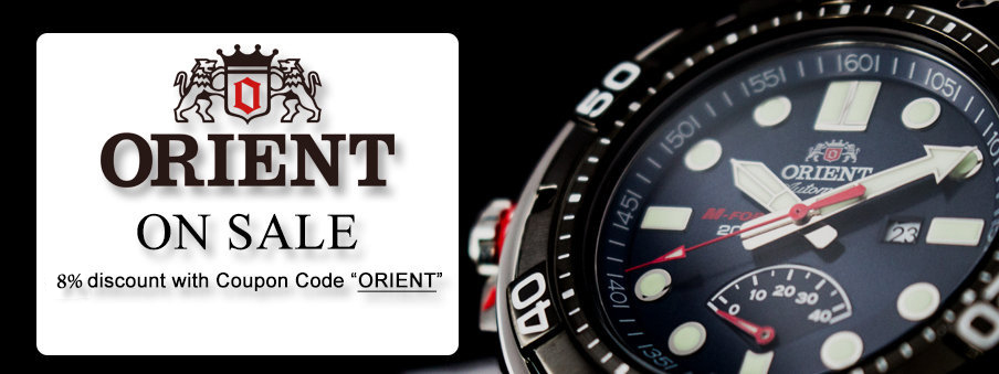 Orient watches on sale with free worldwide shipping.