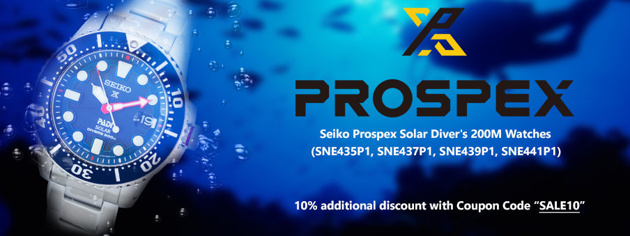 Seiko Prospex Solar Divers wathes on sale with free worldwide shipping