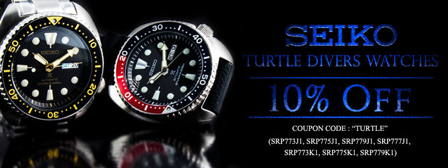 Seiko Prospex Turtle Divers wathes on sale with free worldwide shipping